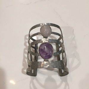 Free People silver and purple cuff